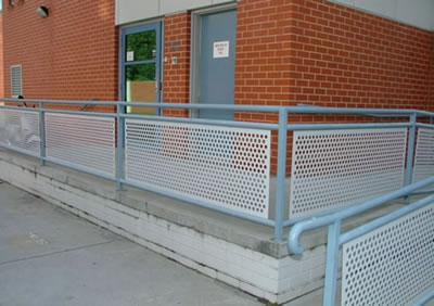 Perforated Barriers, Aluminum Sheet